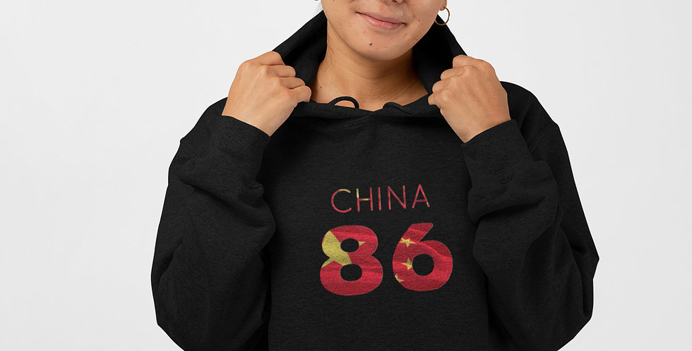China Womens Black Pullover Hoodie
