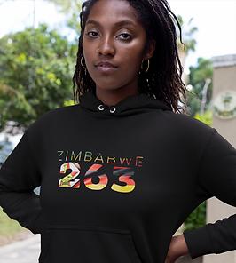 Zimbabwe 263 Womens Pullover Hoodie