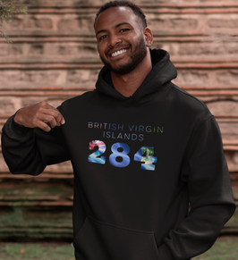 British Virgin Islands 284 Men's Pullover Hoodie