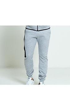 Heather Grey Side Zip Joggers/Sweatpants