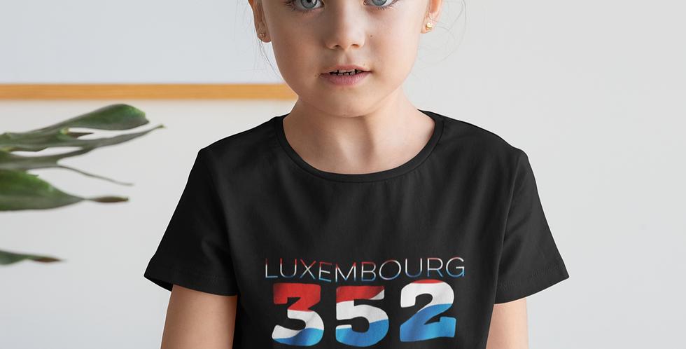 Childrens Luxembourg Black T-Shirt