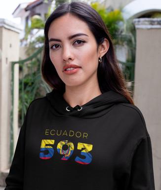 Ecuador 593 Women's Pullover Hoodie