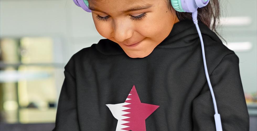 Qatar Childrens Black Hoodie