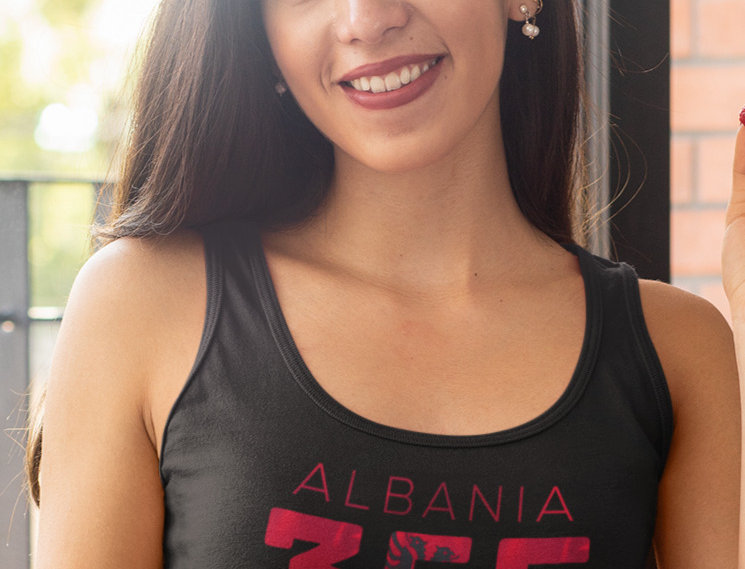 Albania Womens Black Vest