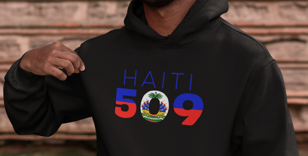 Haiti Mens Black Hoodie