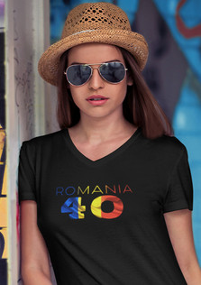 Romania 40 Womens T-Shirt