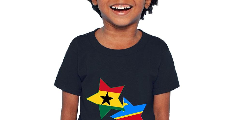 Ghana and Democratic Republic of Congo Black T-Shirt