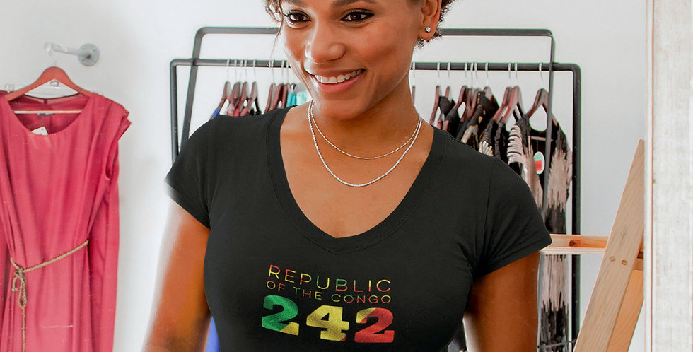 Republic of the Congo Womens BlackT-Shirt