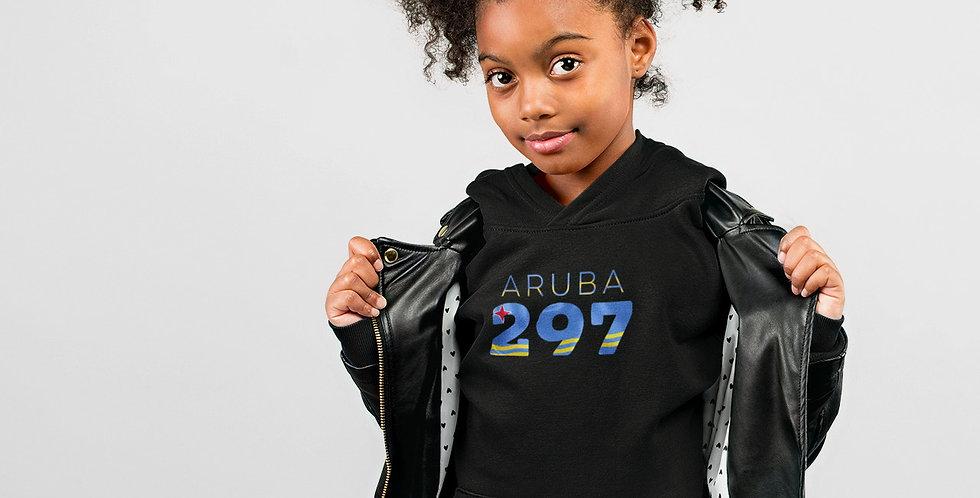 Aruba Childrens Black Hoodie