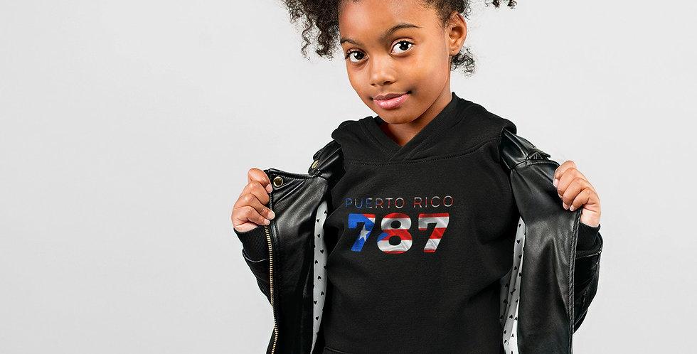 Puerto Rico Childrens Black Hoodie