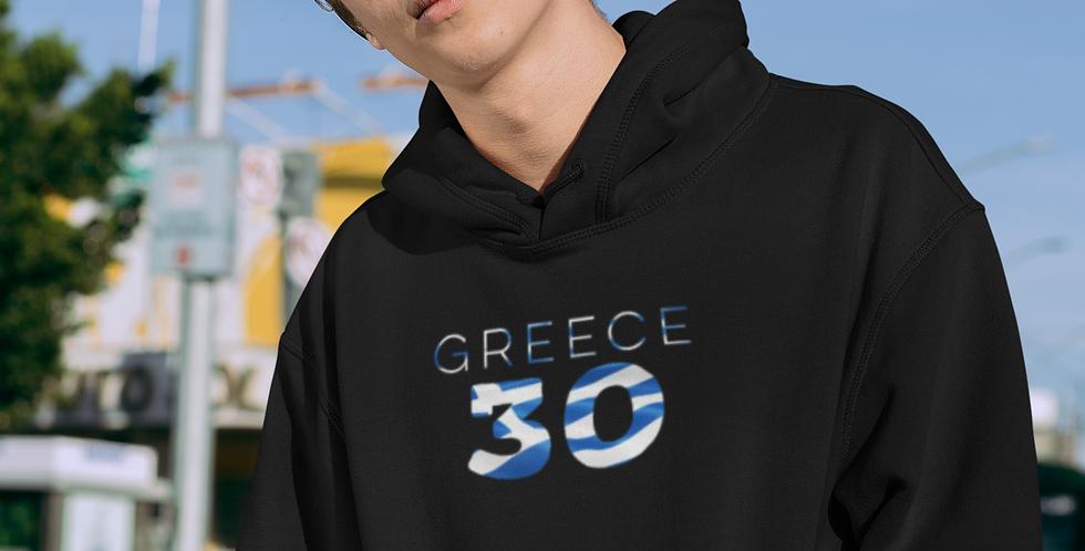 Greece Mens Black Hoodie