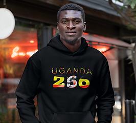 Uganda 256 Mens Pullover Hoodie