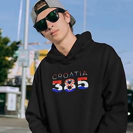Croatia 385 Mens Pullover Hoodie
