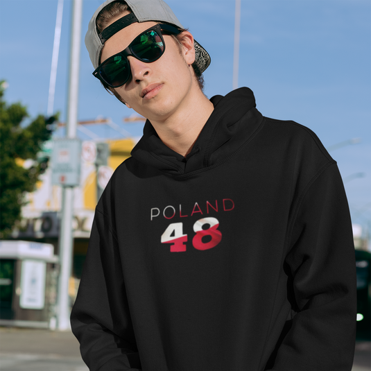 Poland 48 Mens Pullover Hoodie