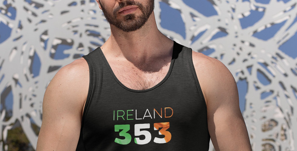 Ireland Mens Black Tank Top Vest