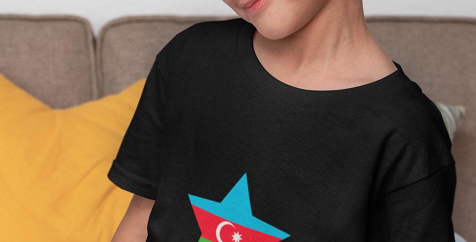 Childrens Azerbaijan Black T-Shirt