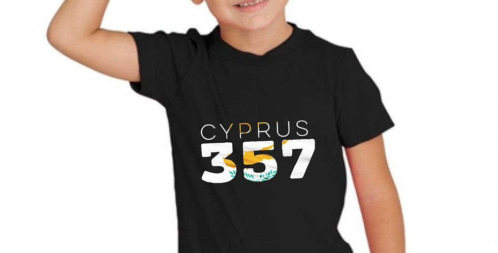 Childrens Cyprus 357 Black T-Shirt