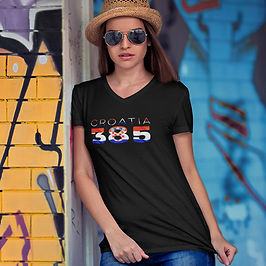 Croatia 385 Womens T-Shirt