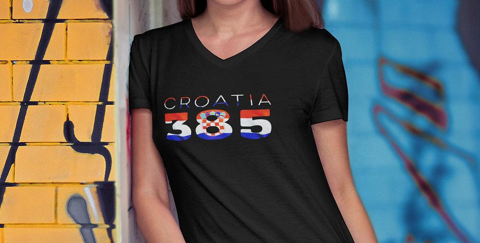 Croatia Womens Black T-Shirt