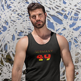 Germany 49 Mens Tank Top