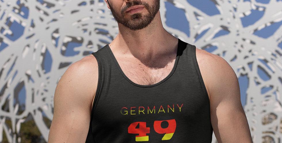 Germany Mens Black Tank Top Vest
