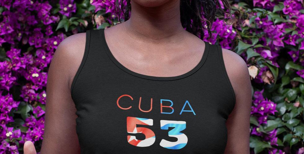 Cuba Womens Black Vest Tank Top