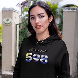 Uruguay 598 Women's Pullover Hoodie
