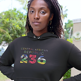 Central African Republic 236 Women's Pullover Hoodie