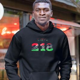 Libya 218 Men's Pullover Hoodie