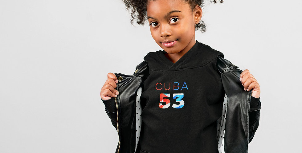 Cuba Childrens Black Hoodie