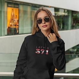 Latvia 371 Womens Pullover Hoodie