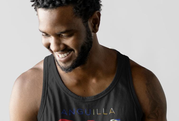 Anguilla Mens Black Tank Top