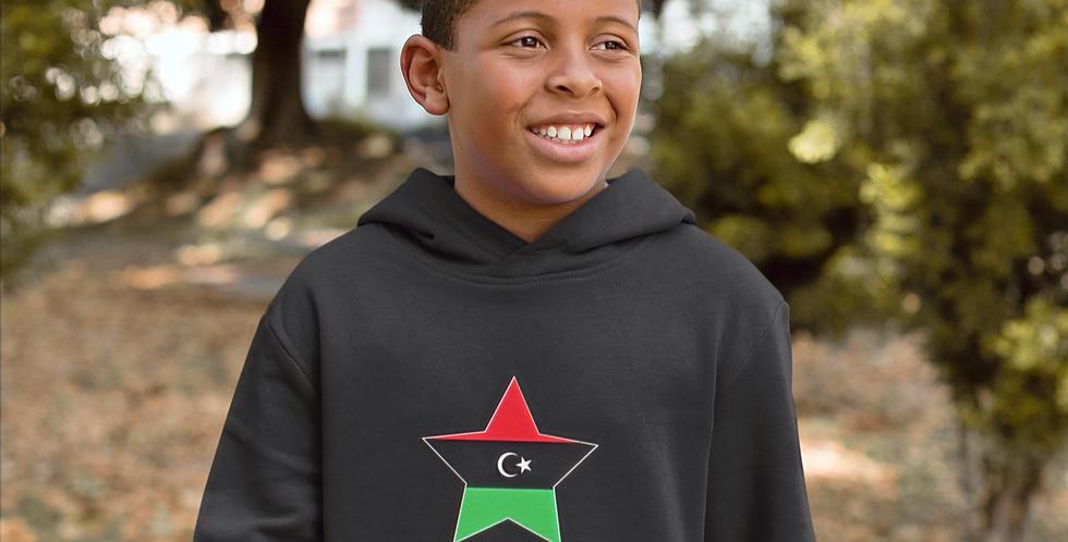 Libya Childrens Black Hoodie