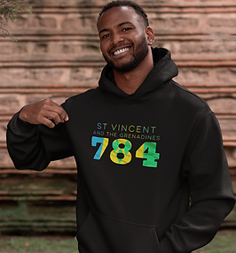 St Vincent and the Grenadines 784 Mens Pullover Hoodie