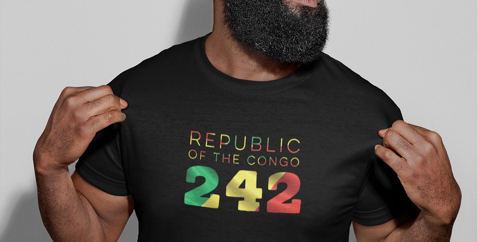 Republic of the Congo Mens Black T-Shirt