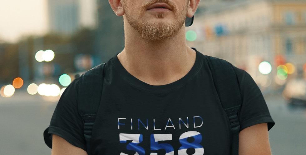 Finland Mens Black T-Shirt