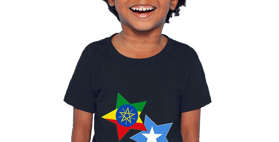 Childrens Ethiopia & Somalia Black T-Shirt