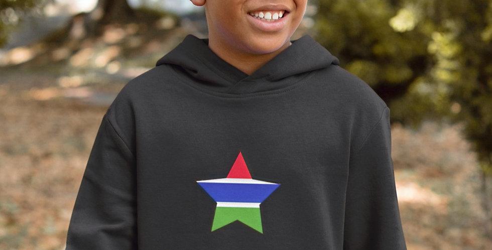 Gambia Childrens Black Hoodie
