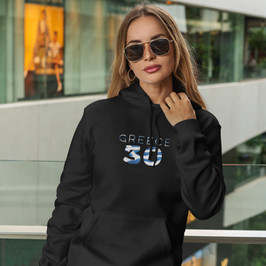 Greece 30 Womens Pullover Hoodie