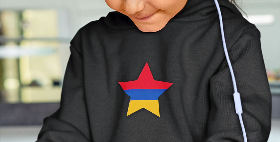 Armenia Childrens Black Hoodie