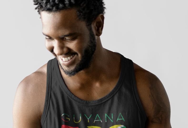 Guyana Mens Tank Top Vest