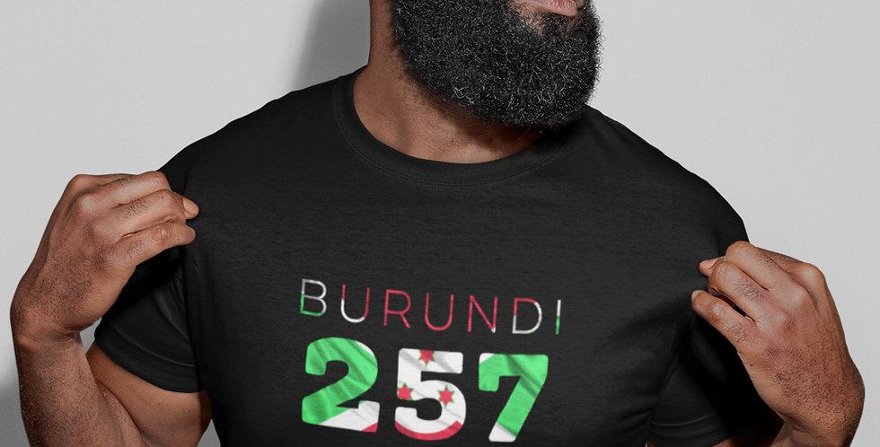 Burundi Mens Black T-Shirt