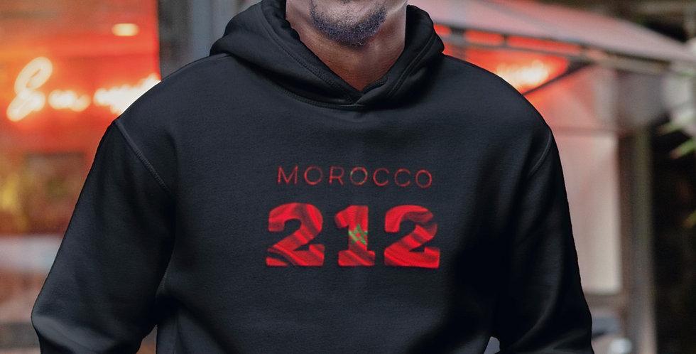 Morocco Mens Black Hoodie