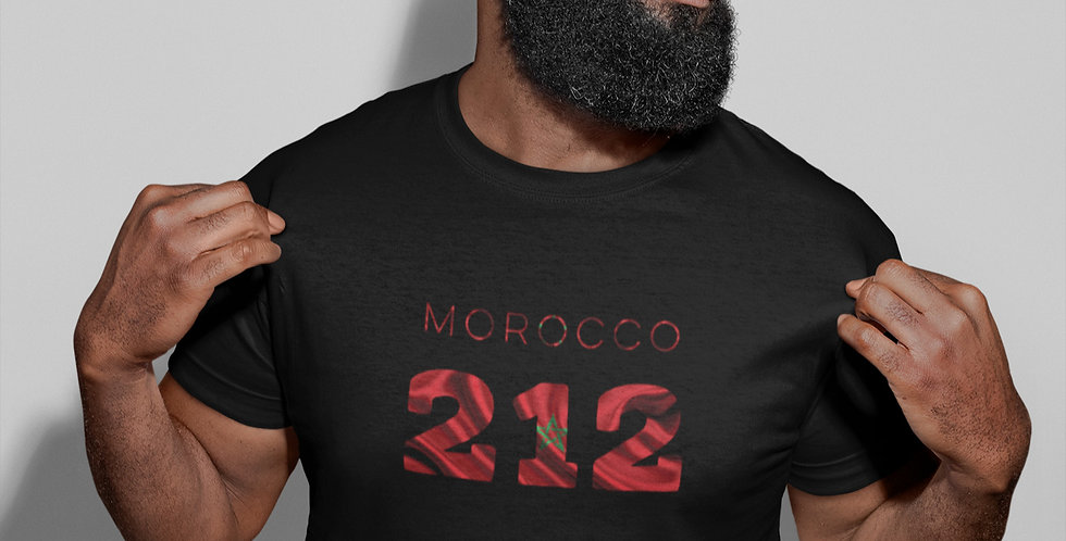 Morocco Mens Black T-Shirt
