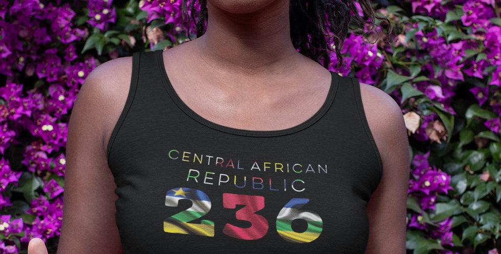 Central African Republic Womens Black Vest Tank Top