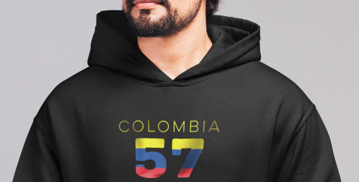 Colombia Mens Pullover Hoodie
