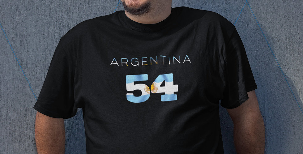 Argentina Mens Black T-Shirt