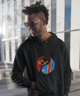 Angola & Democratic Republic of Congo Dual Mens Pullover Hoodie