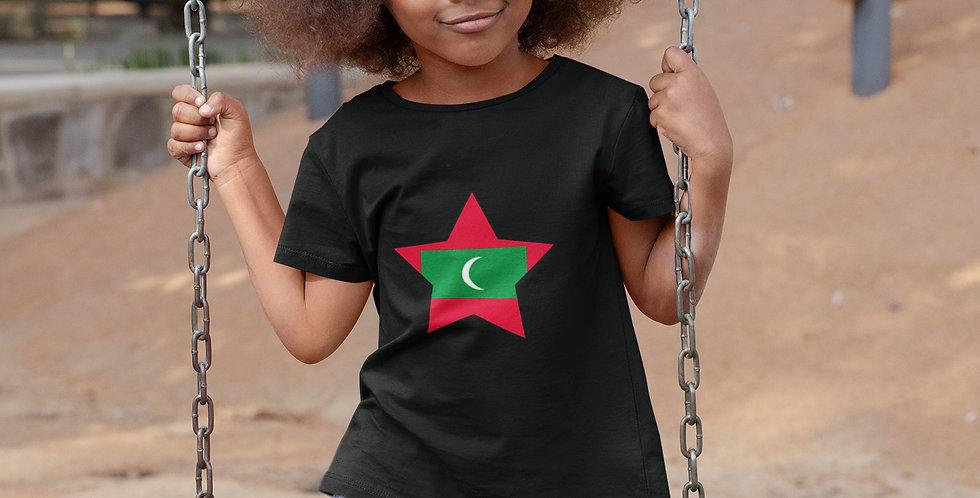 Childrens Maldives Black T-shirt