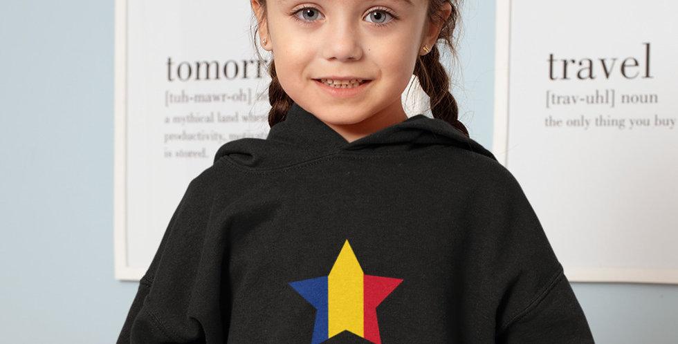 Romania Childrens Black Hoodie